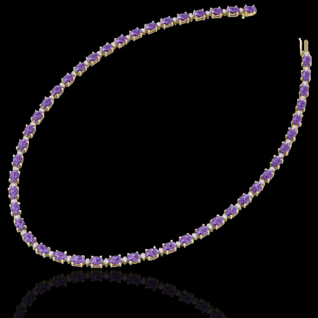 61.85 CTW Amethyst & VS/SI Certified Diamond Eternity - 2