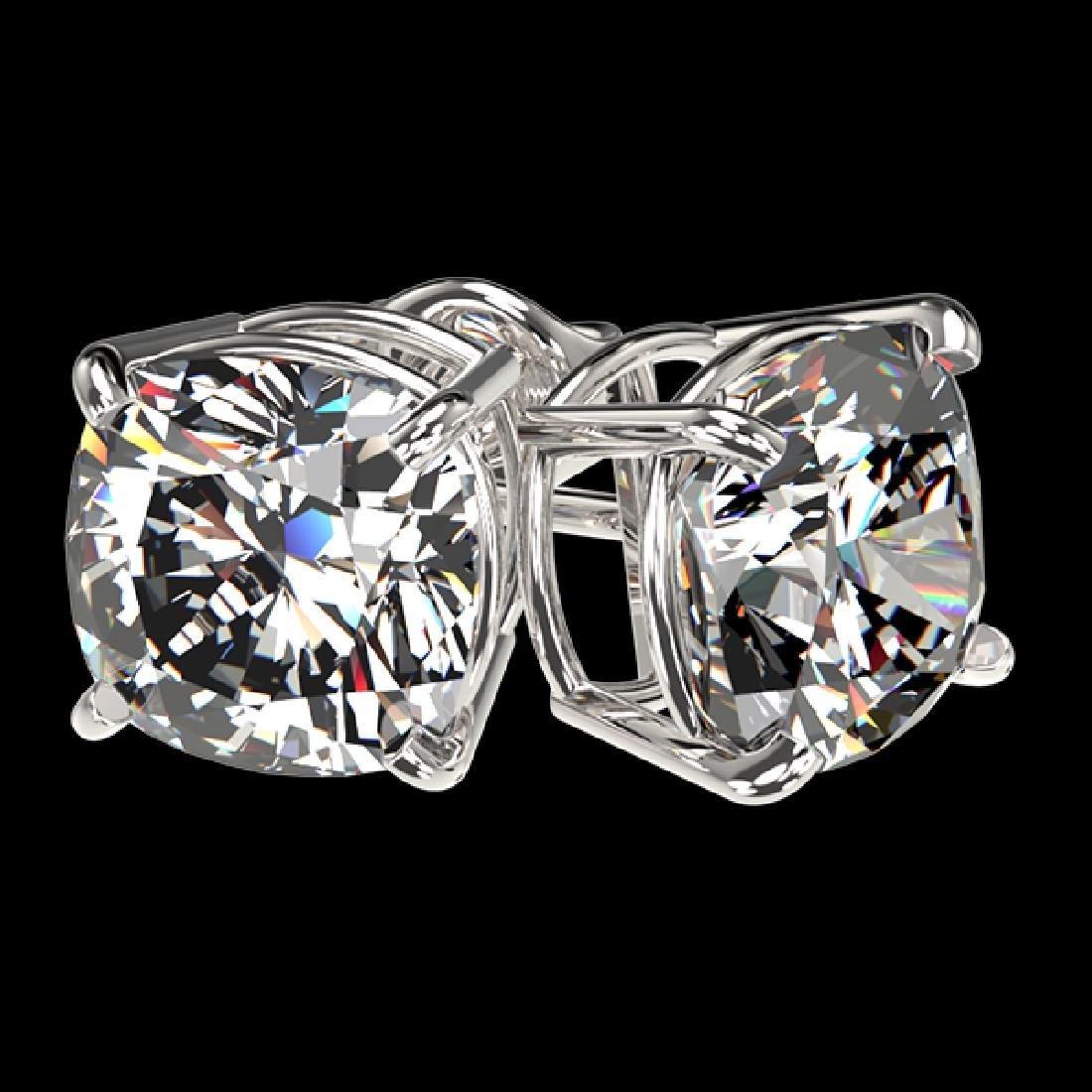 2.50 CTW Certified VS/SI Quality Cushion Cut Diamond - 3