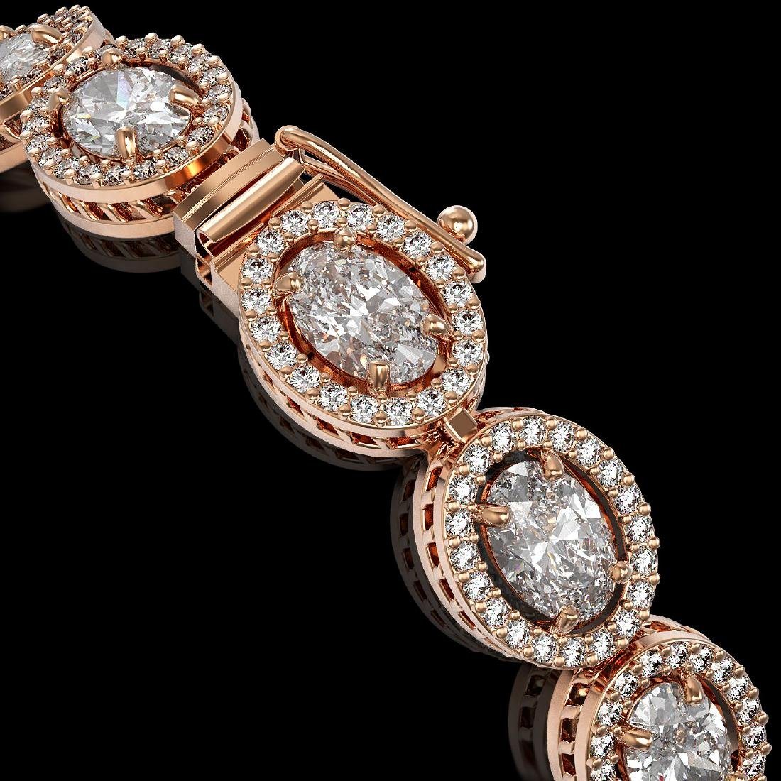 13.25 CTW Oval Diamond Designer Bracelet 18K Rose Gold - 3