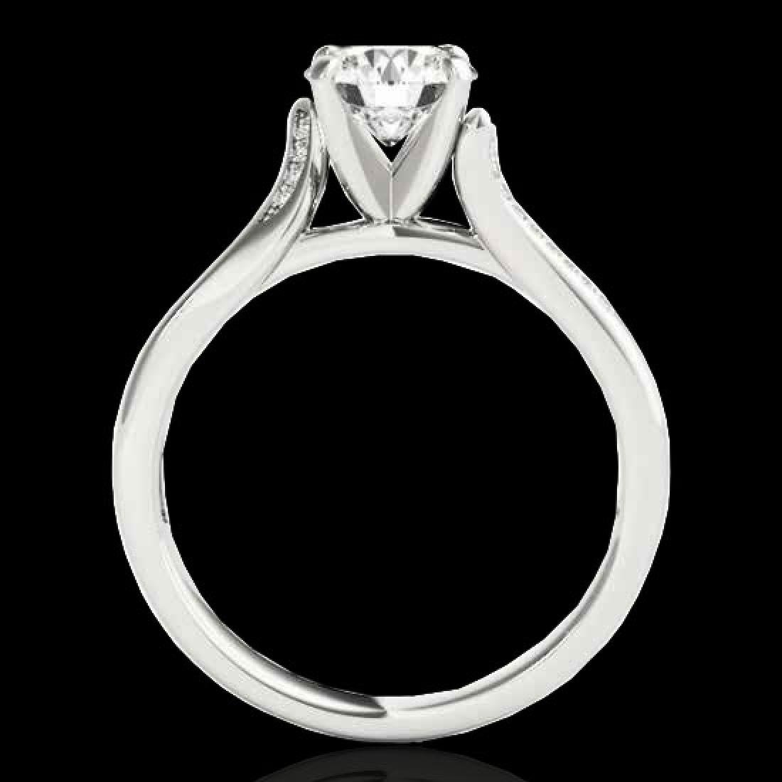 1.18 CTW H-SI/I Certified Diamond Solitaire Ring 10K - 2
