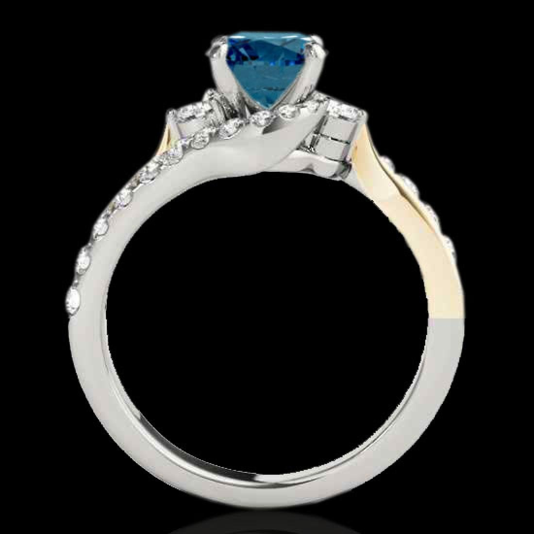 1.6 CTW SI Certified Fancy Blue Diamond Bypass - 2