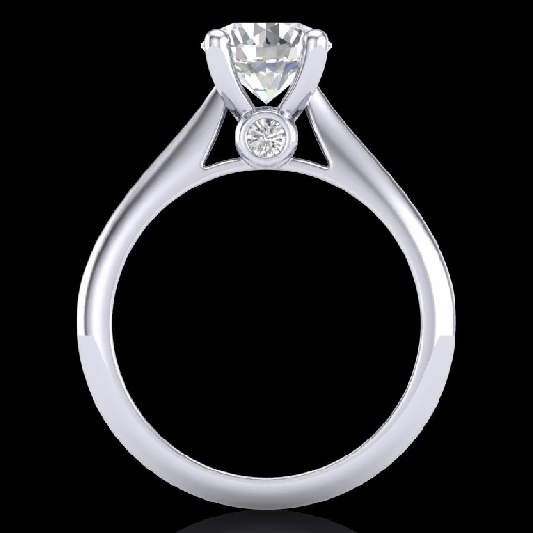 1.6 CTW VS/SI Diamond Art Deco Ring 18K White Gold - 3