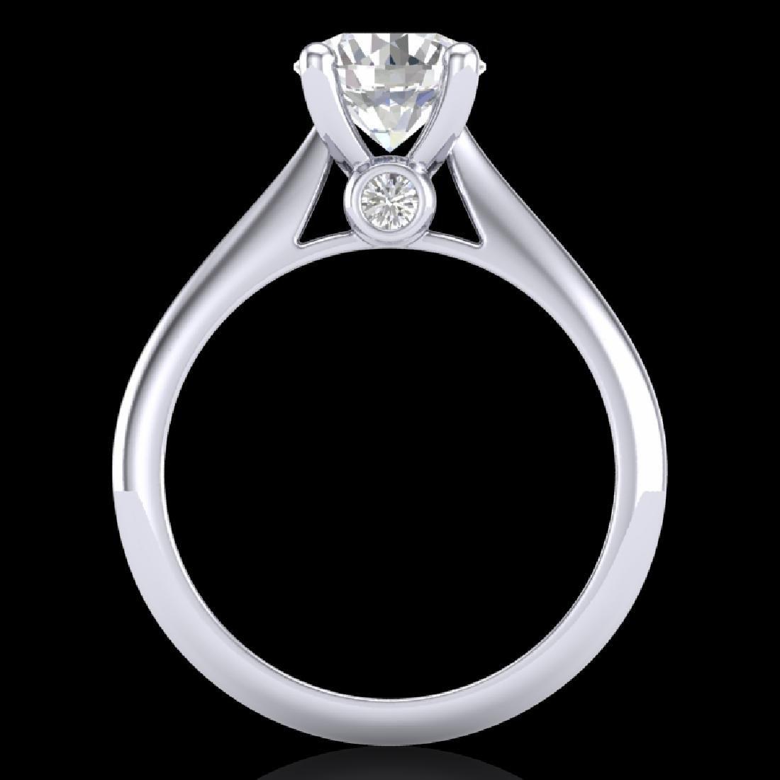 1.6 CTW VS/SI Diamond Art Deco Ring 18K White Gold - 3