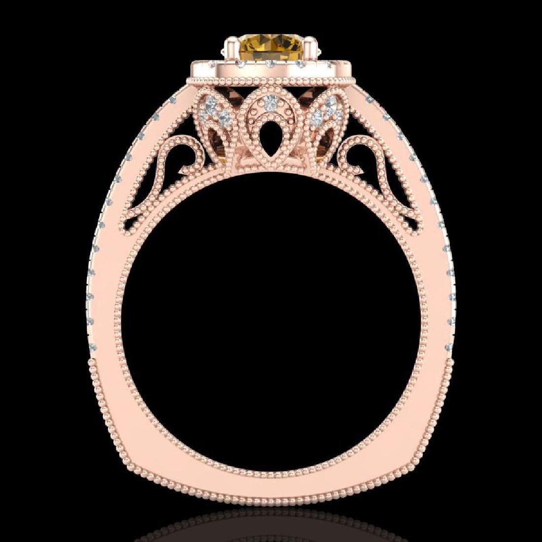 1.55 CTW Intense Fancy Yellow Diamond Engagement Art - 3