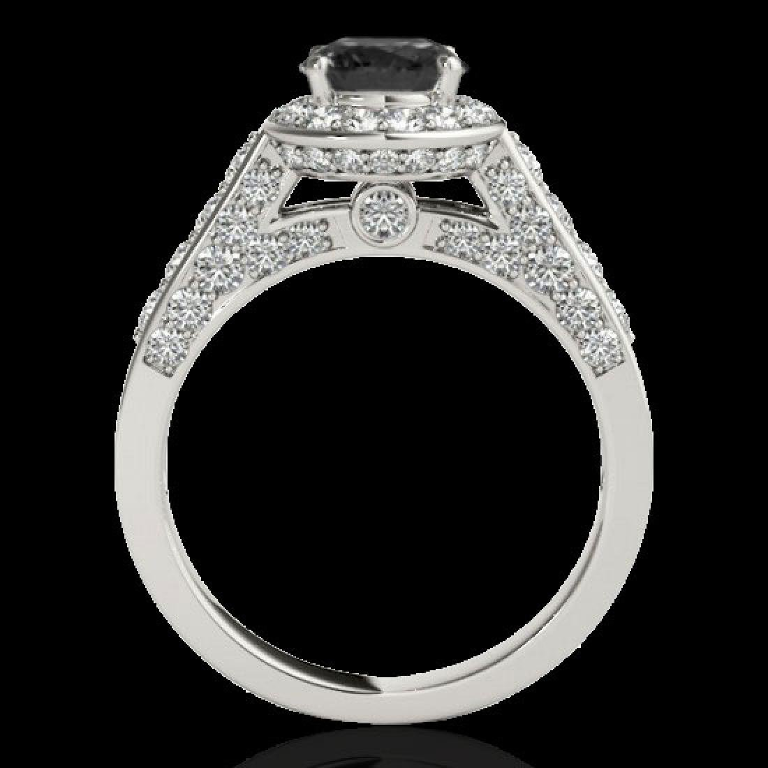 2.56 CTW Certified VS Black Diamond Solitaire Halo Ring - 2