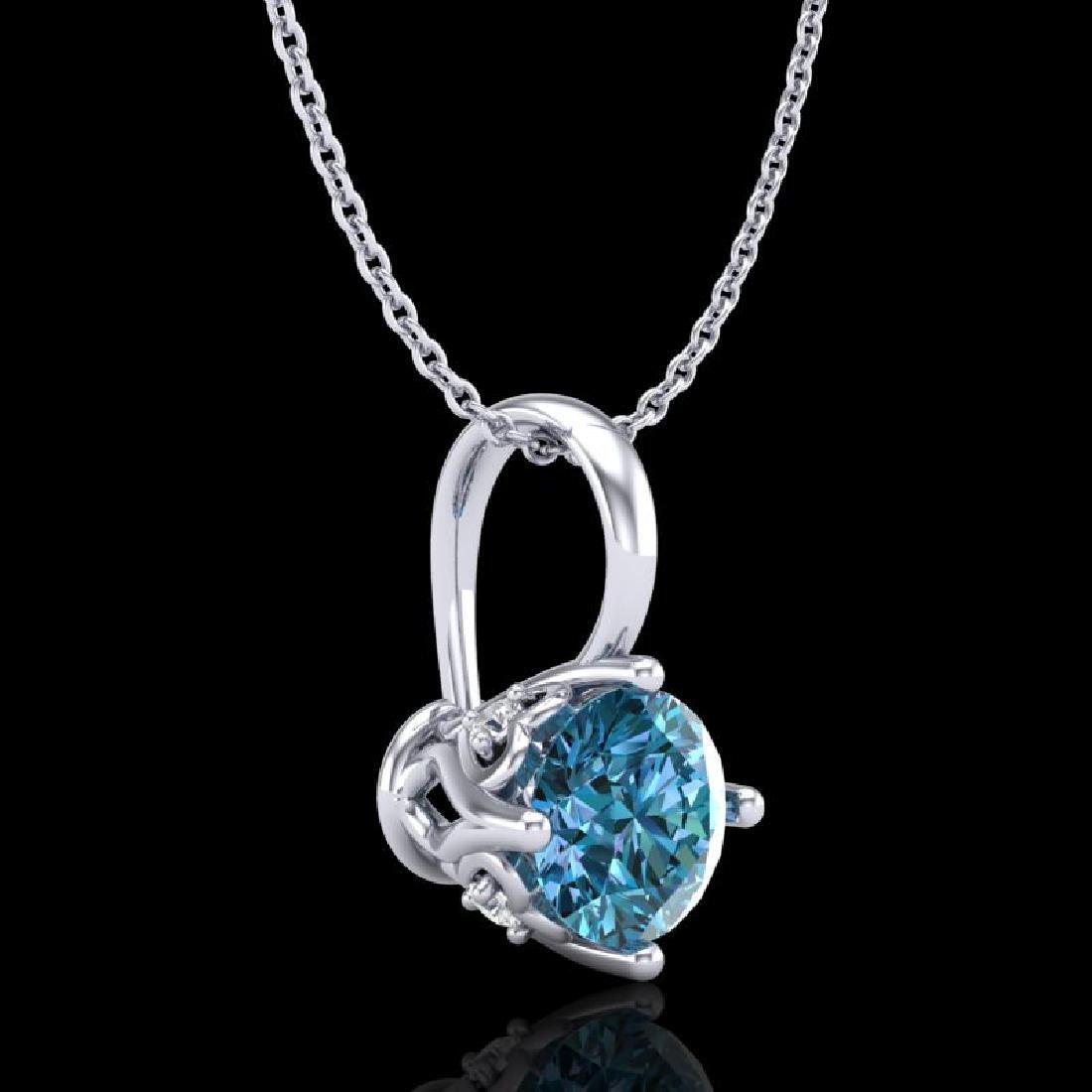 0.62 CTW Fancy Intense Blue Diamond Solitaire Art Deco - 3