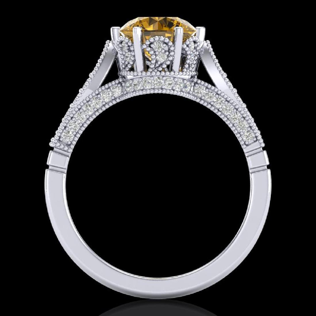 2.2 CTW Intense Fancy Yellow Diamond Engagement Art - 3