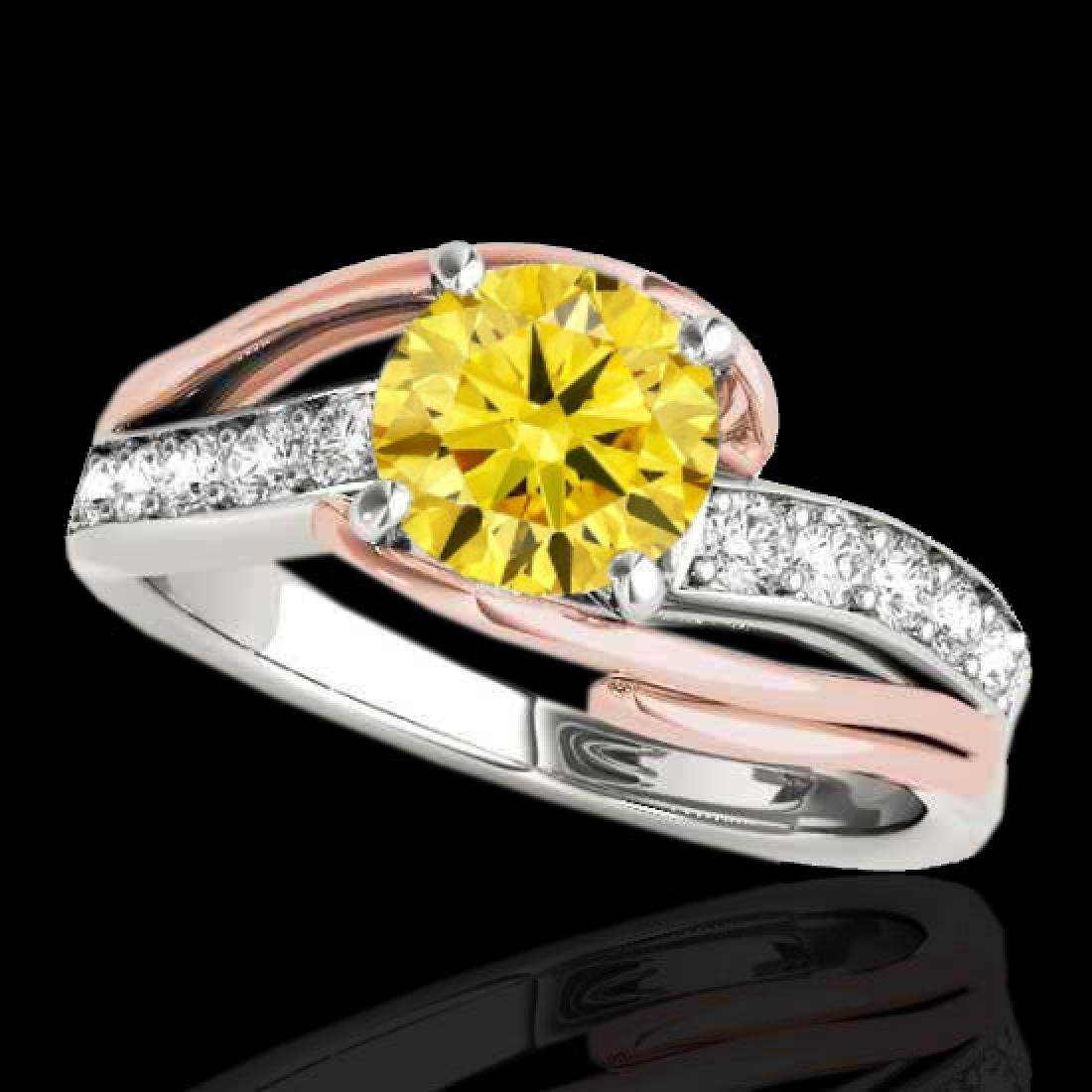 1.5 CTW Certified Si Intense Diamond Bypass Solitaire