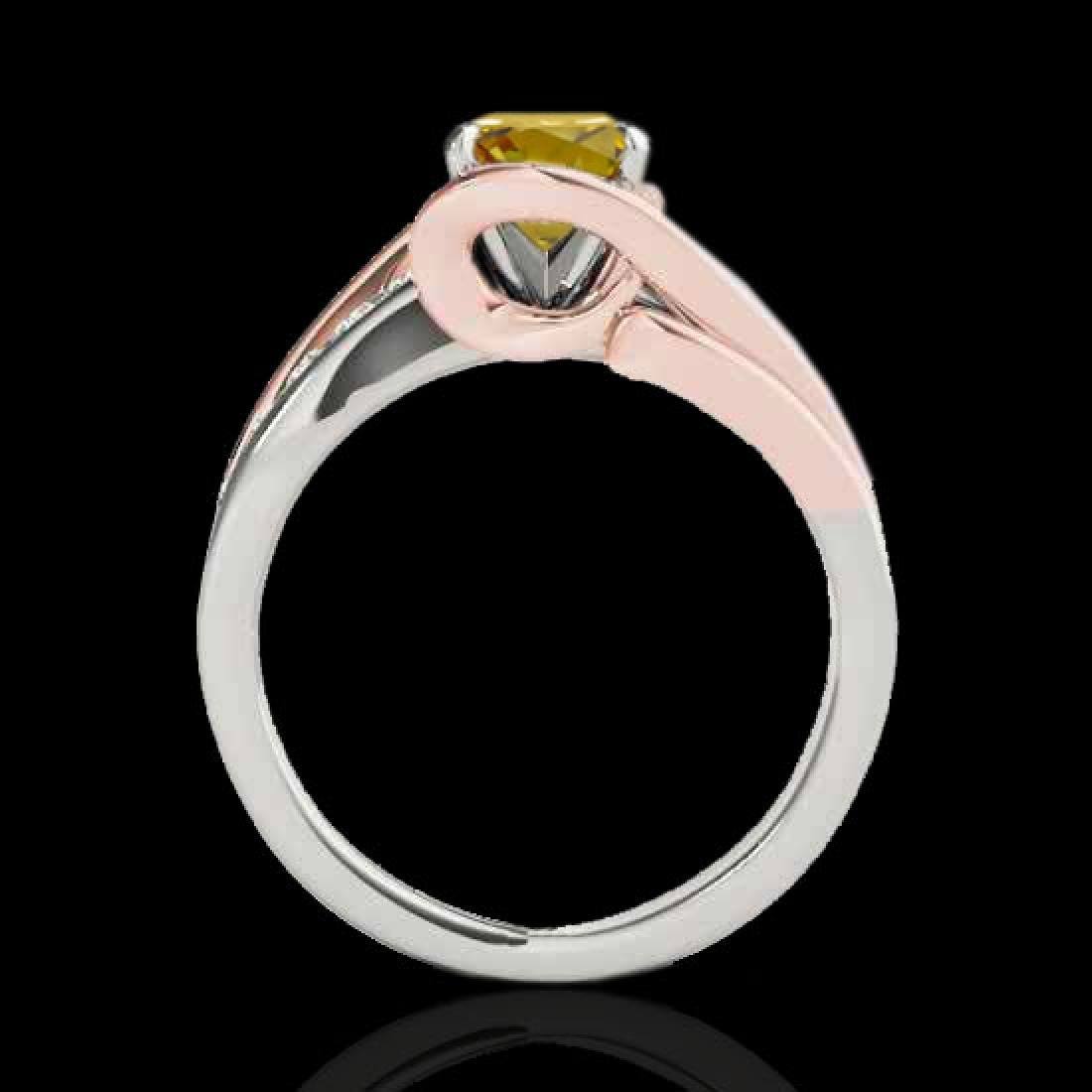 1.5 CTW Certified Si Intense Diamond Bypass Solitaire - 2