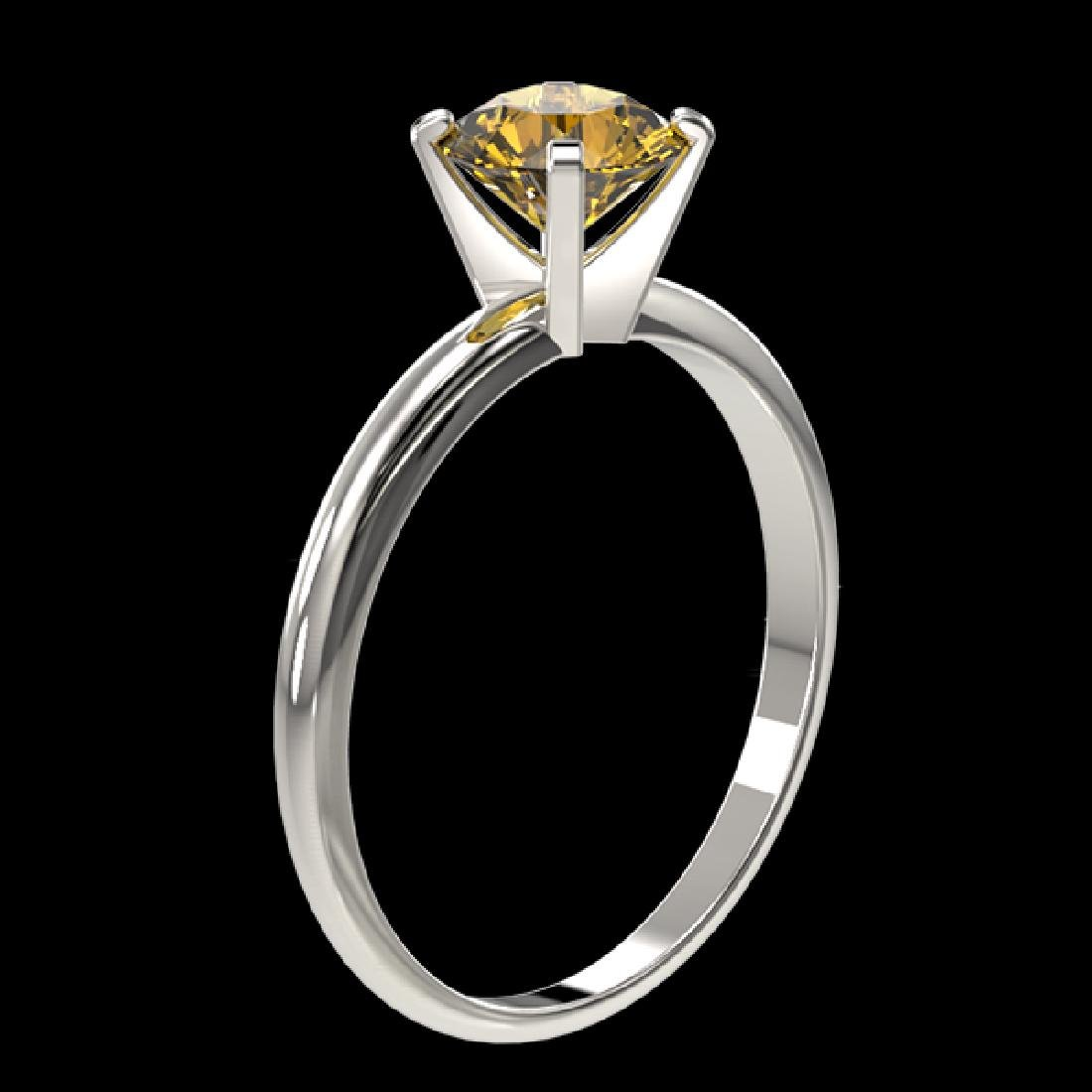 1.04 CTW Certified Intense Yellow SI Diamond Solitaire - 3