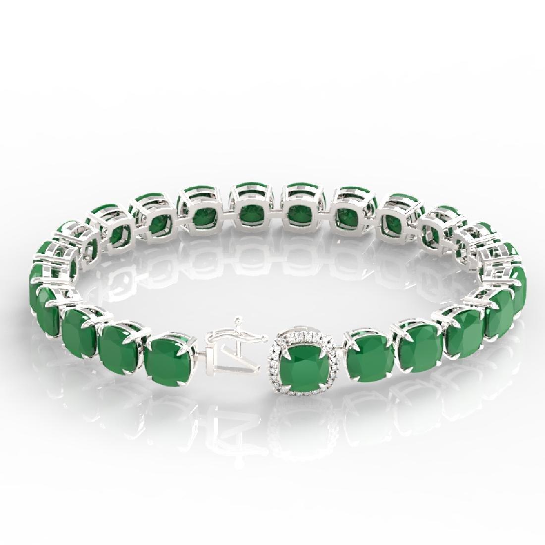 46 CTW Emerald & Micro VS/SI Diamond Halo Designer - 3