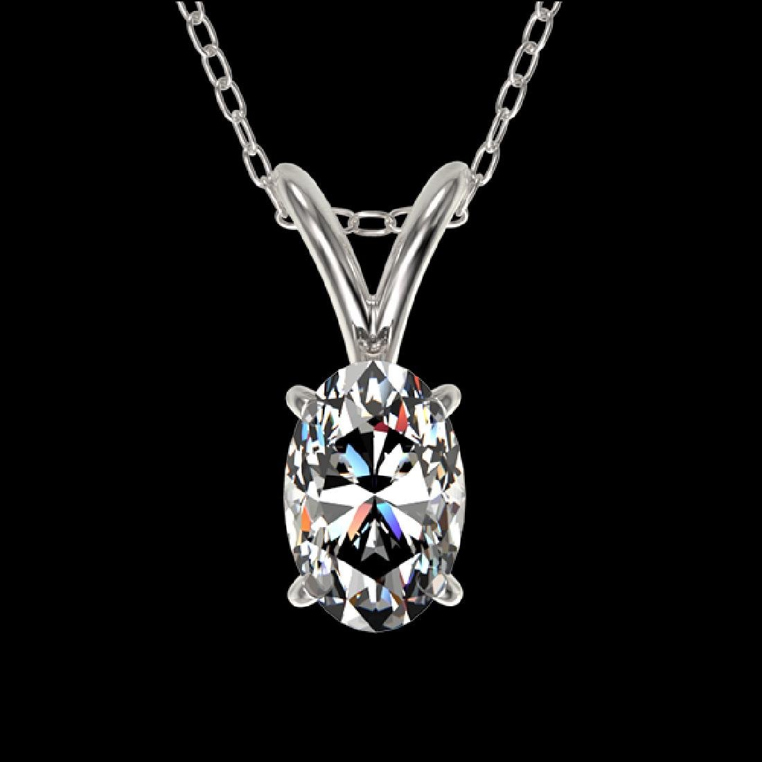 0.50 CTW Certified VS/SI Quality Oval Diamond Solitaire