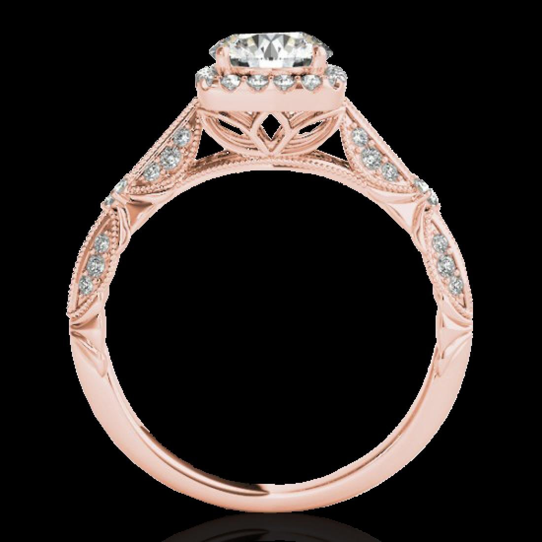 1.36 CTW H-SI/I Certified Diamond Solitaire Halo Ring - 2