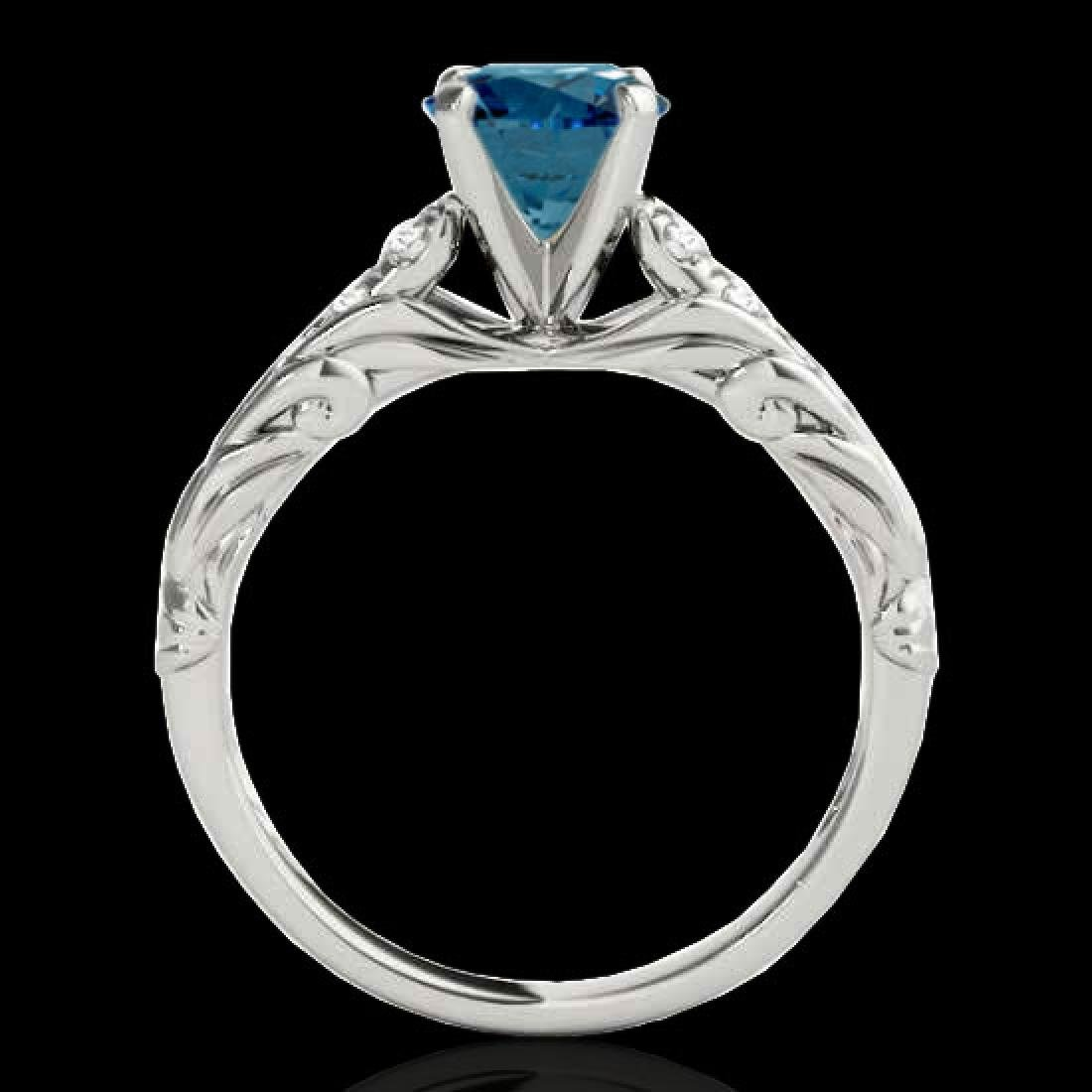 1.2 CTW SI Certified Fancy Blue Diamond Solitaire Ring - 2