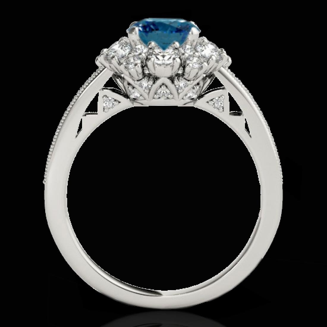 2.16 CTW SI Certified Fancy Blue Diamond Solitaire Halo - 2