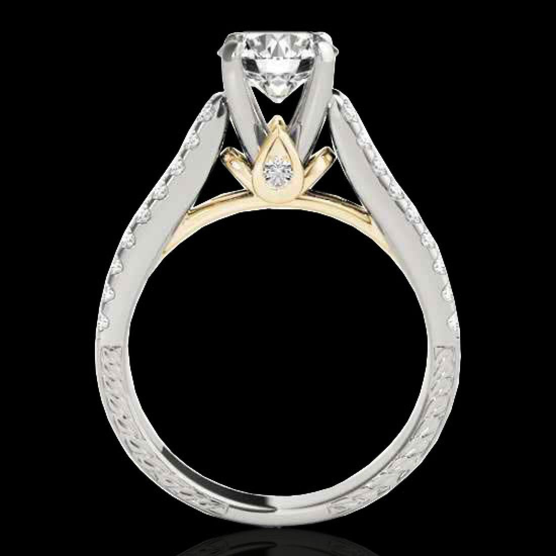 1.61 CTW H-SI/I Certified Diamond Pave Ring 10K White & - 2