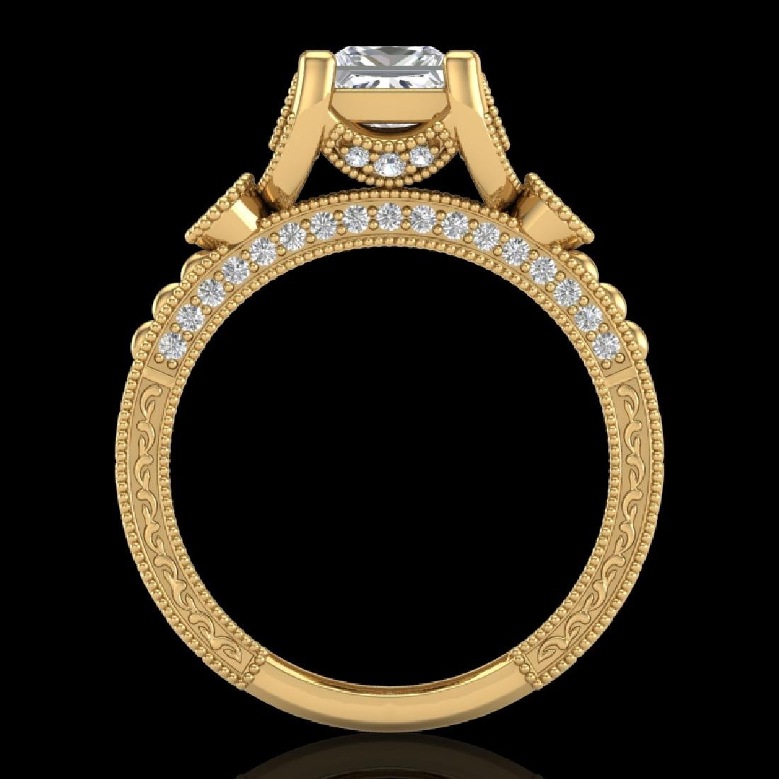 1.75 CTW Princess VS/SI Diamond Art Deco Ring 18K