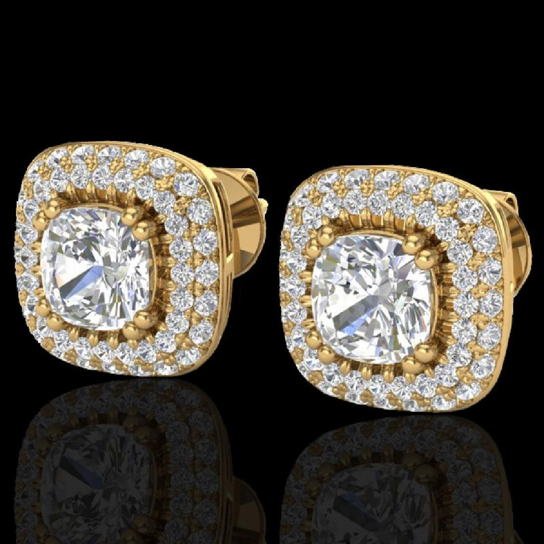 2.16 CTW Micro Pave VS/SI Diamond Earrings Solitaire