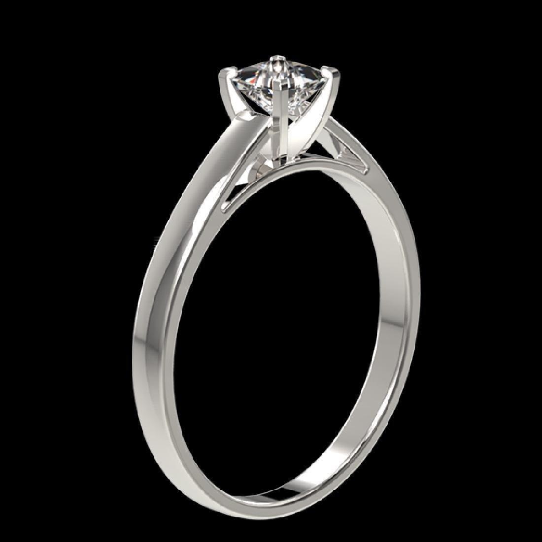 0.50 CTW Certified VS/SI Quality Princess Diamond - 3