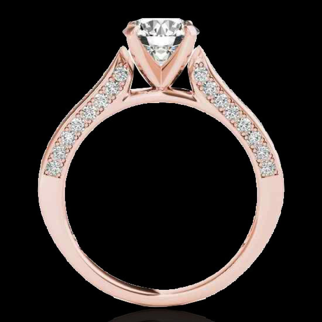 1.6 CTW H-SI/I Certified Diamond Solitaire Ring 10K - 2