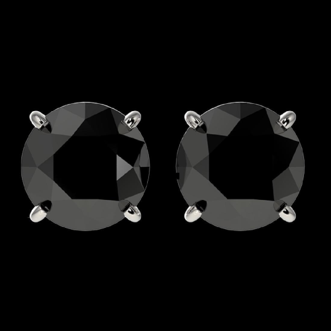 2.13 CTW Fancy Black VS Diamond Solitaire Stud Earrings