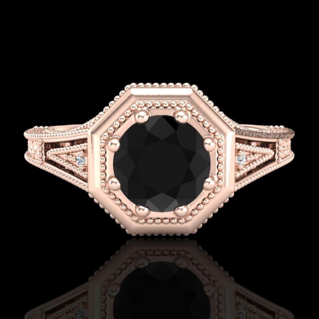 0.84 CTW Fancy Black Diamond Solitaire Engagement Art - 2
