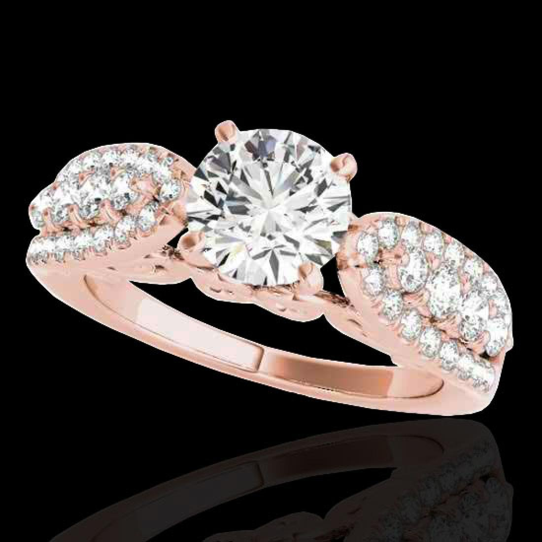 2 CTW H-SI/I Certified Diamond Solitaire Ring 10K Rose