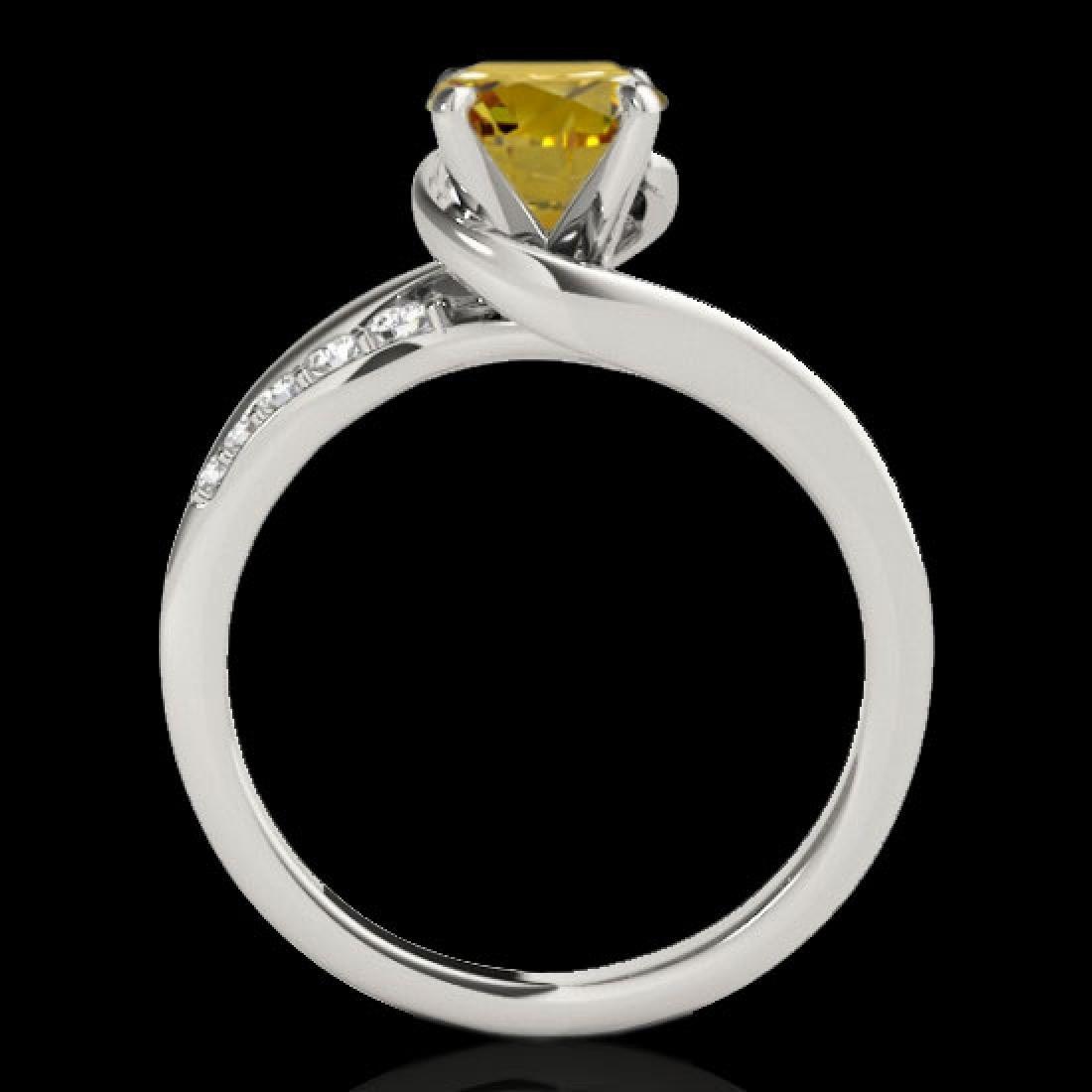1.31 CTW Certified Si Intense Yellow Diamond Bypass - 2