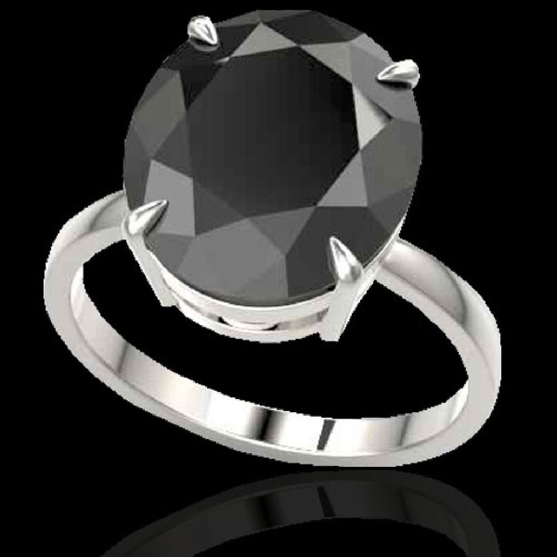 9 CTW Black VS/SI Diamond Designer Engagement Ring 18K - 2