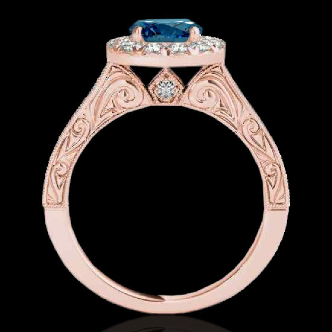 2.22 CTW SI Certified Fancy Blue Diamond Solitaire Halo - 2