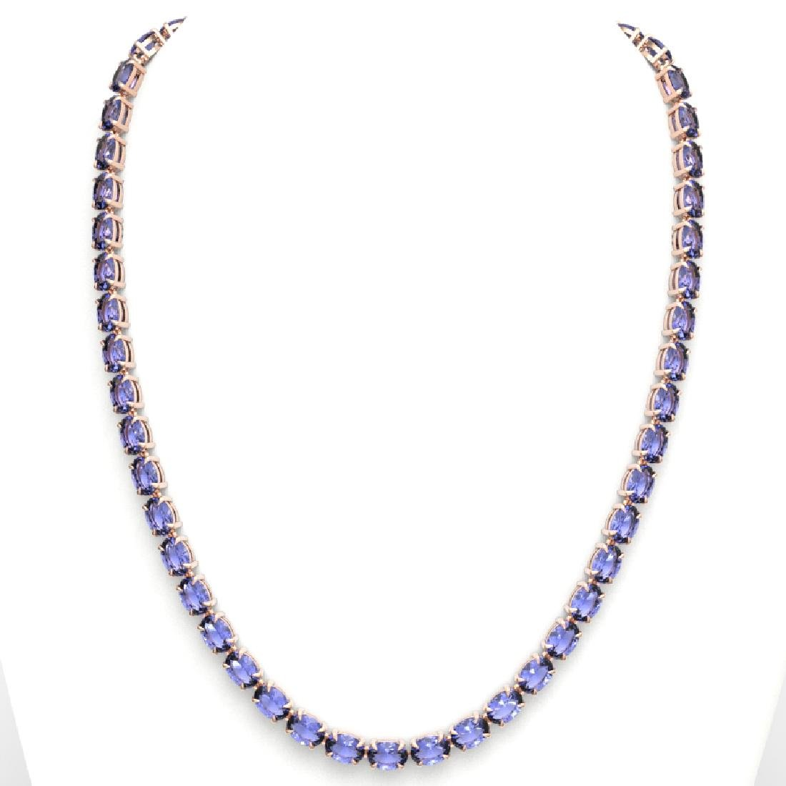 56 CTW Tanzanite Eternity Designer Inspired Tennis - 3