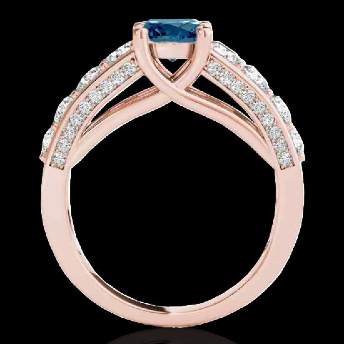 2.55 CTW SI Certified Fancy Blue Diamond Solitaire Ring - 2