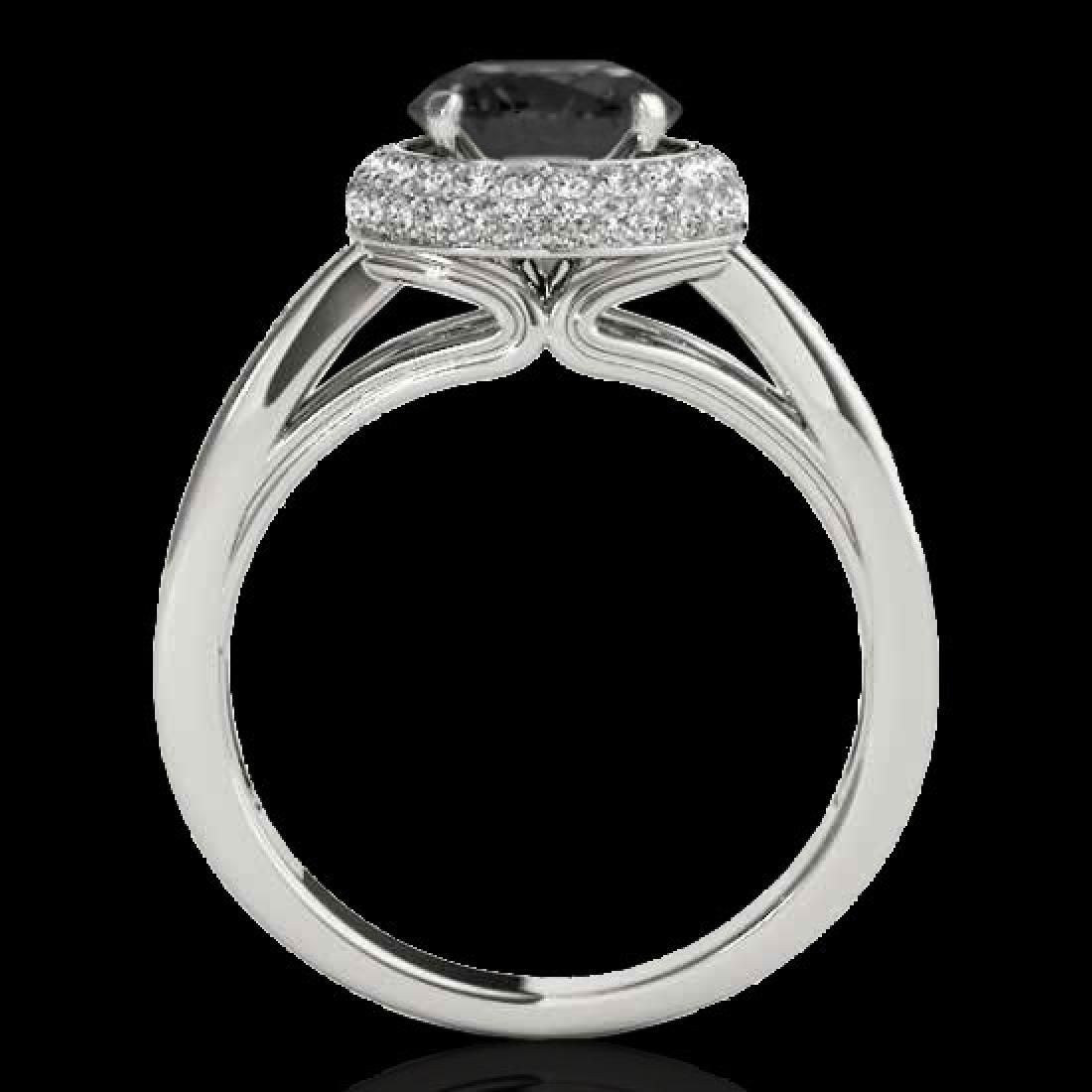 2.15 CTW Certified VS Black Diamond Solitaire Halo Ring - 2