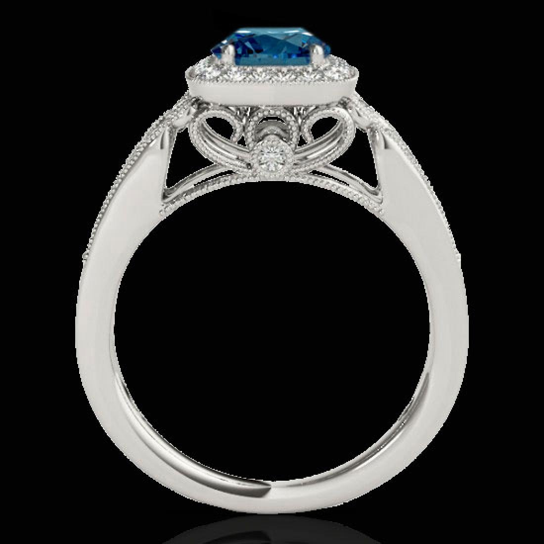 1.3 CTW SI Certified Fancy Blue Diamond Solitaire Halo - 2