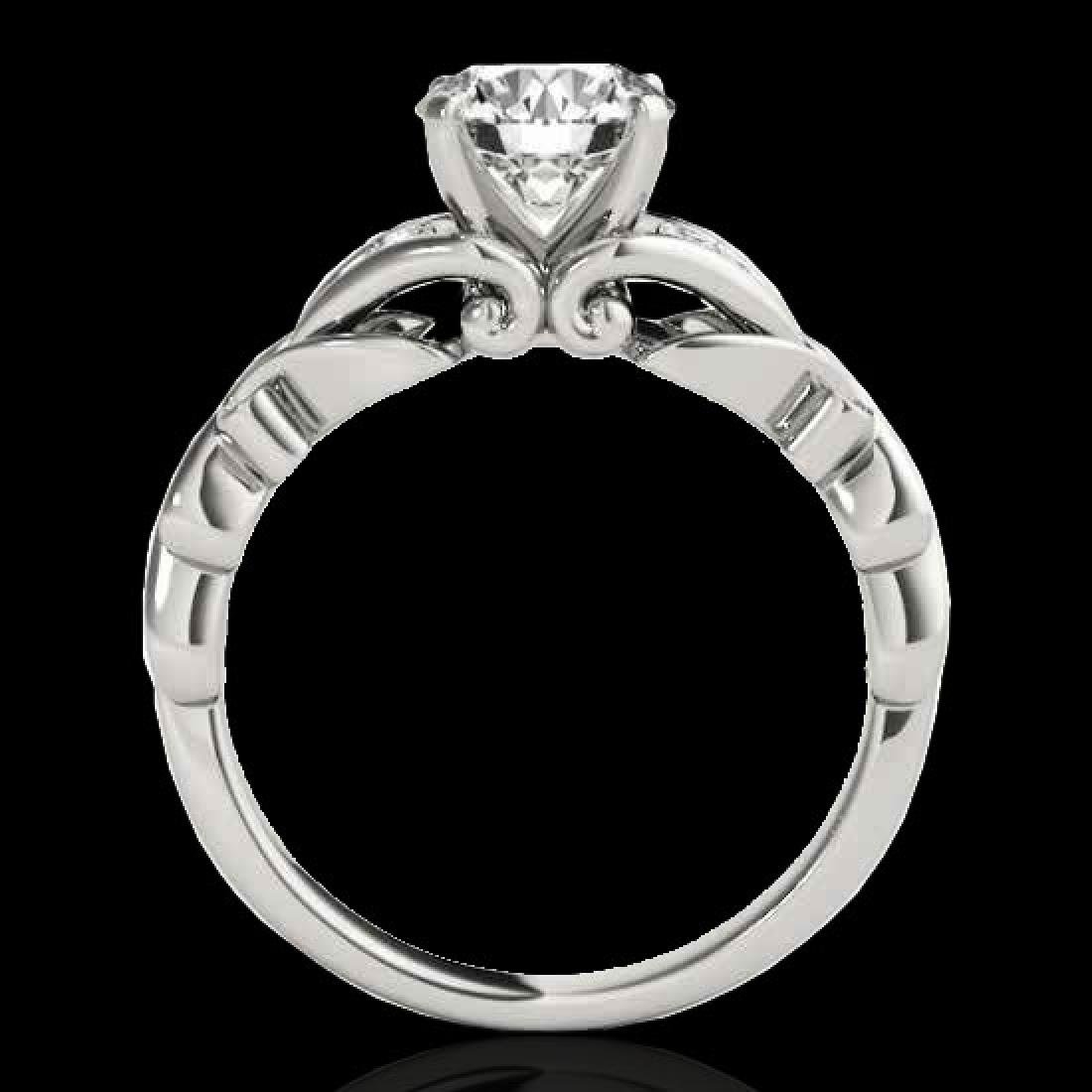 1.1 CTW H-SI/I Certified Diamond Solitaire Ring 10K - 2