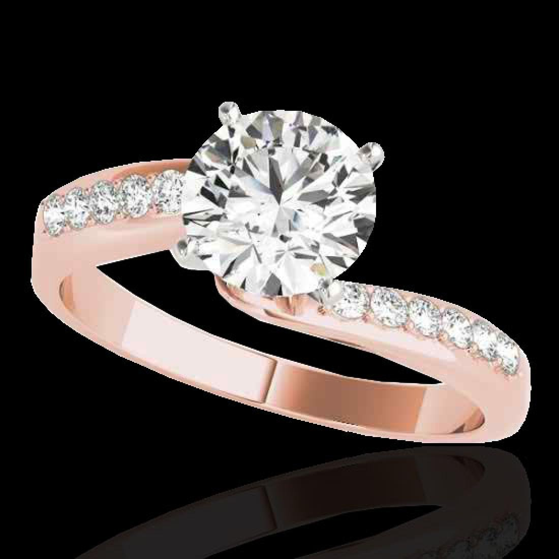 1.15 CTW H-SI/I Certified Diamond Bypass Solitaire Ring