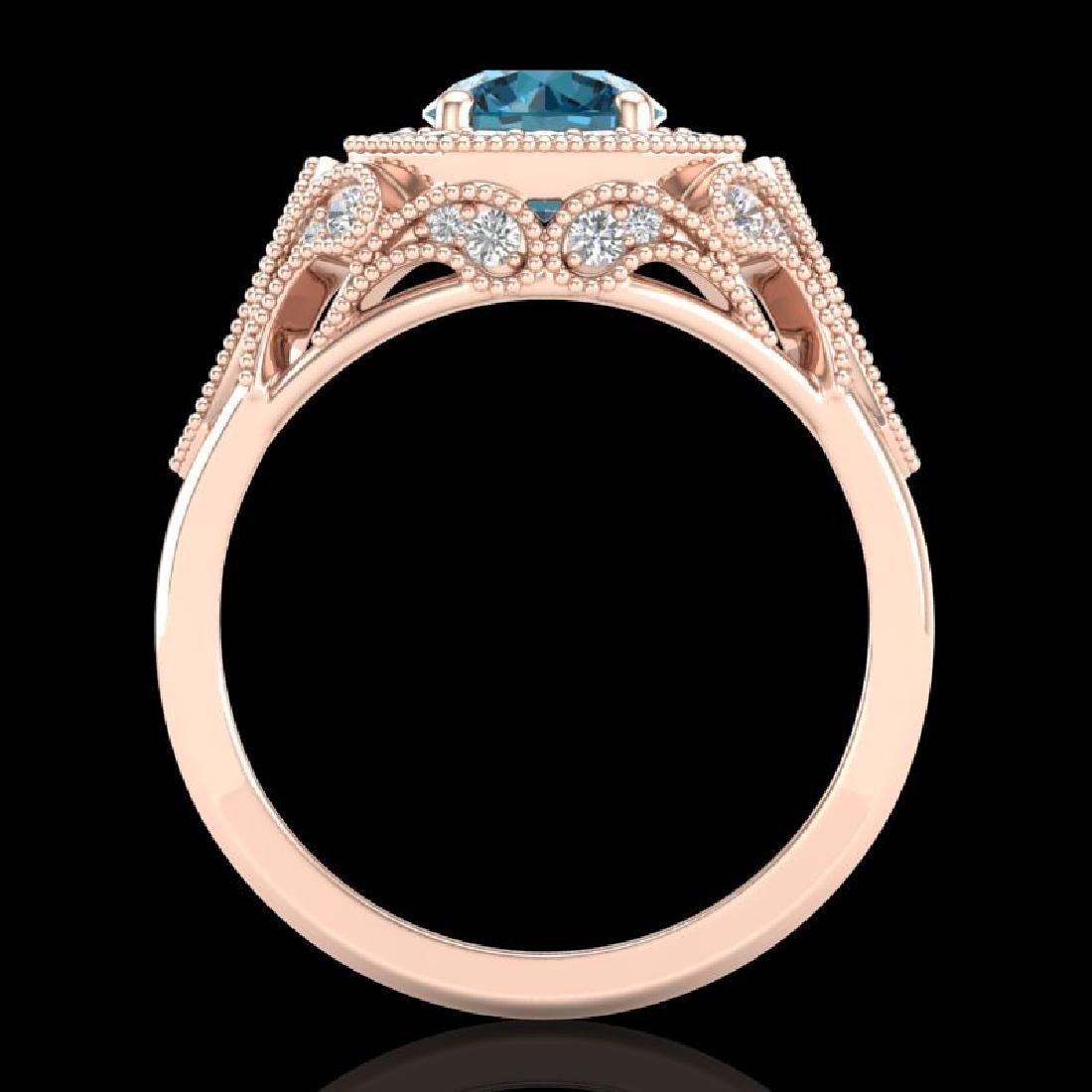 1.75 CTW Fancy Intense Blue Diamond Solitaire Art Deco - 3