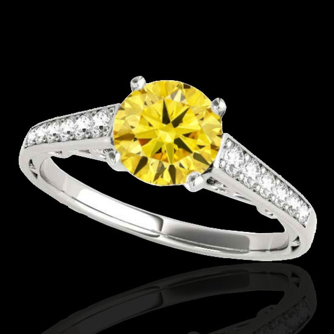 1.35 CTW Certified SI/I Fancy Intense Yellow Diamond