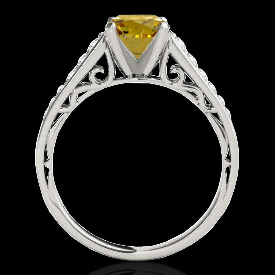 1.35 CTW Certified SI/I Fancy Intense Yellow Diamond - 2