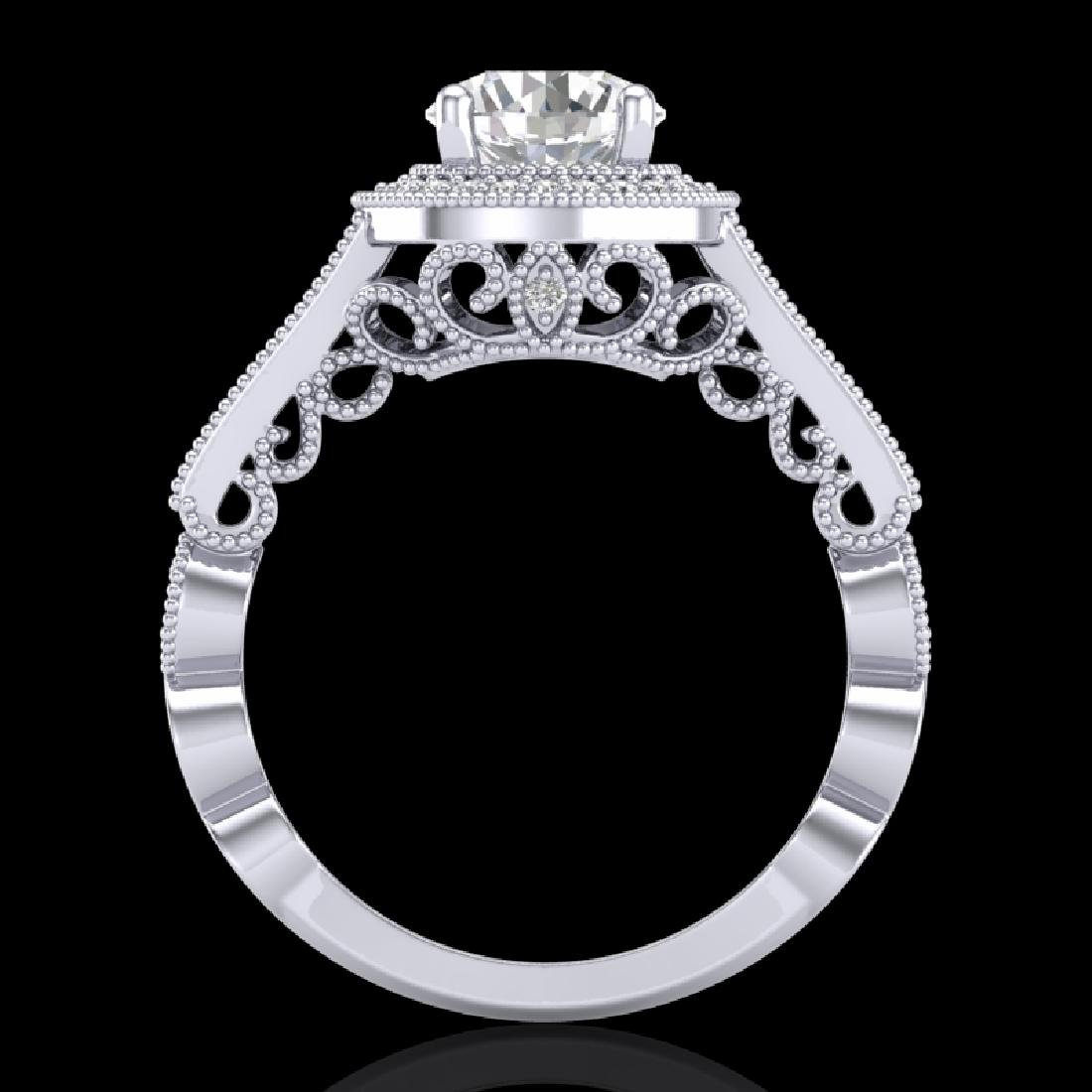 1.91 CTW VS/SI Diamond Art Deco Ring 18K White Gold
