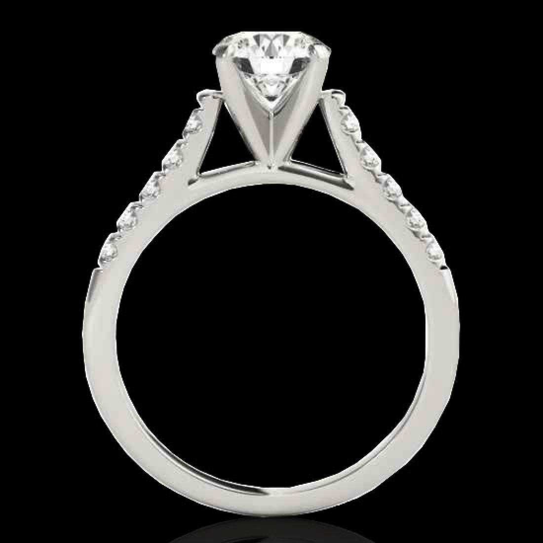 1.45 CTW H-SI/I Certified Diamond Solitaire Ring 10K - 2