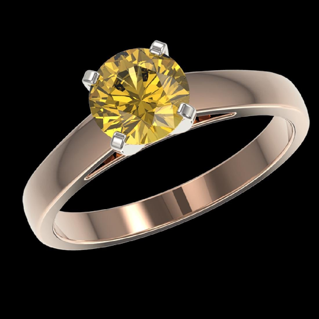 1.29 CTW Certified Intense Yellow SI Diamond Solitaire - 2