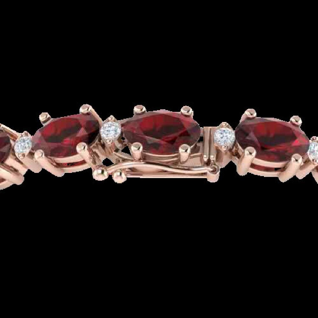 15 CTW Garnet & VS/SI Diamond Eternity Bracelet 10K