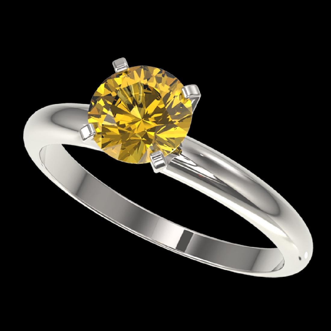 1.27 CTW Certified Intense Yellow SI Diamond Solitaire