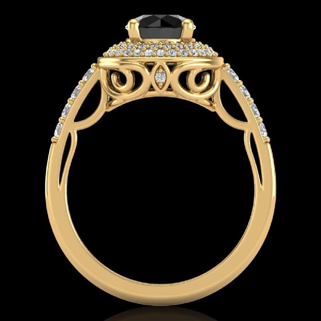 1.7 CTW Fancy Black Diamond Solitaire Engagement Art - 3