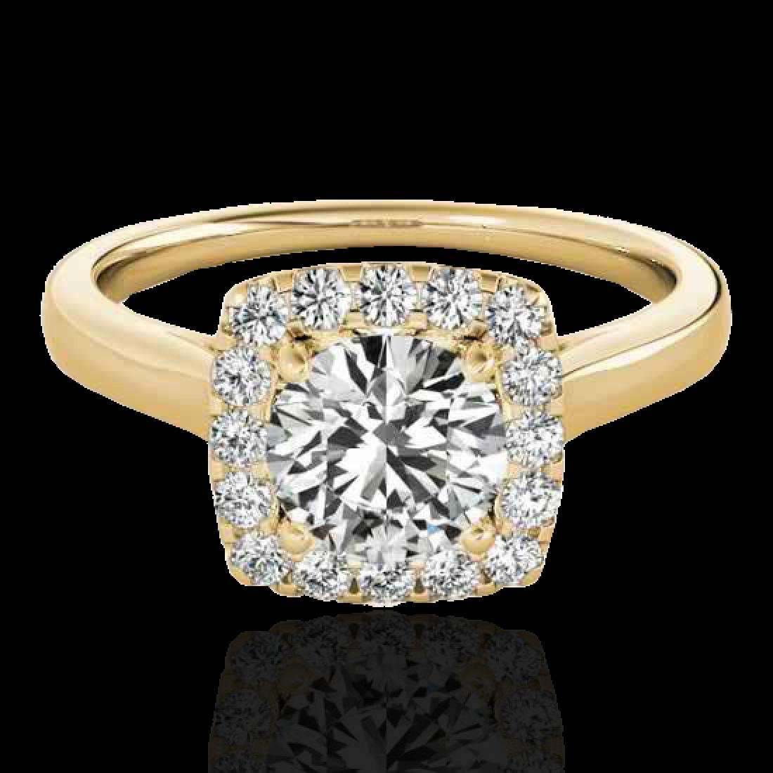 1.37 CTW H-SI/I Certified Diamond Solitaire Halo Ring
