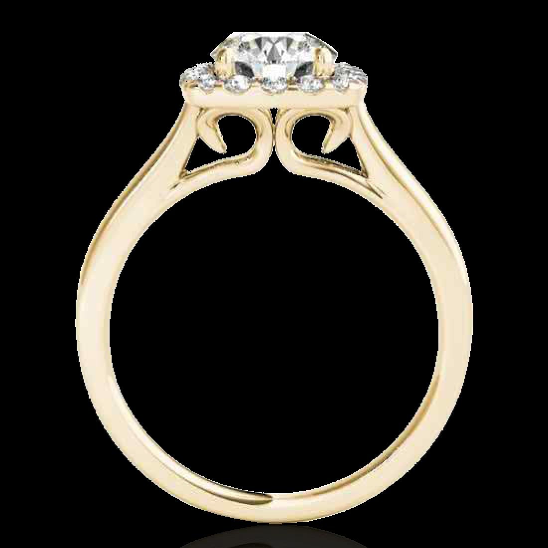 1.37 CTW H-SI/I Certified Diamond Solitaire Halo Ring - 2