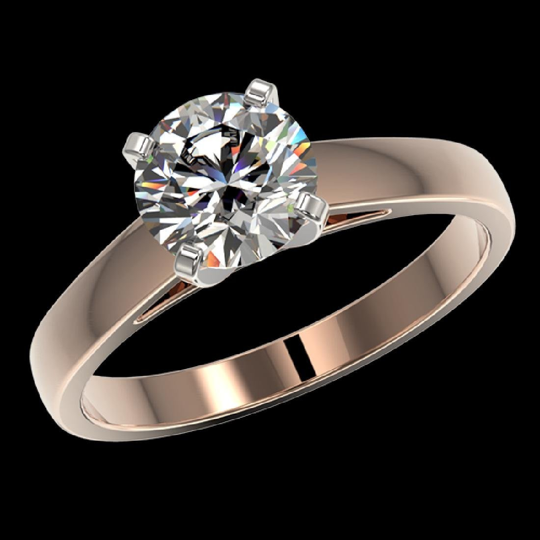 1.55 CTW Certified H-SI/I Quality Diamond Solitaire - 2