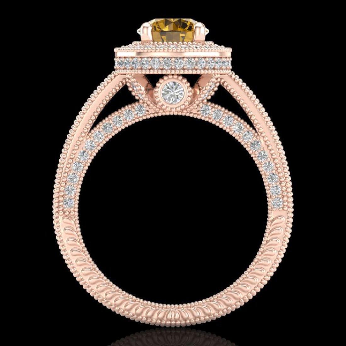 2.8 CTW Intense Fancy Yellow Diamond Engagement Art - 3