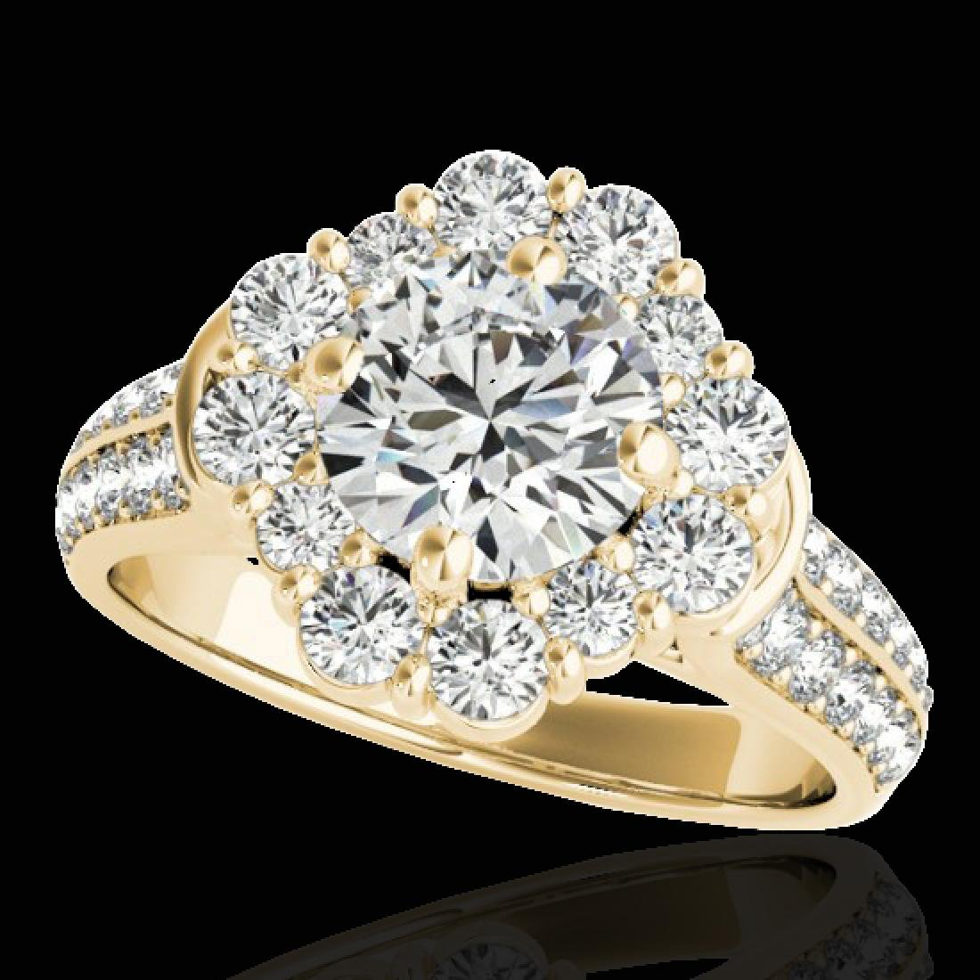 2.16 CTW H-SI/I Certified Diamond Solitaire Halo Ring
